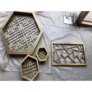 四川铝窗花厂家 铝合金窗花定制 仿木纹铝窗花 仿古铝窗花生产厂家