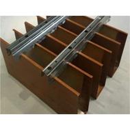 广东金腾达u型铝方通吊顶u形铝方通价格木纹U形铝方通
