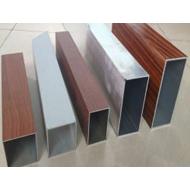 广东铝方管厂家 聚酯烤漆型材铝方通 商场外墙铝方管幕墙