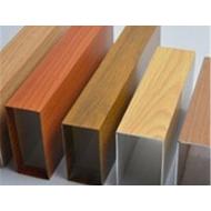 广东铝方管厂家 办公楼外墙铝方管 木纹铝方管价格