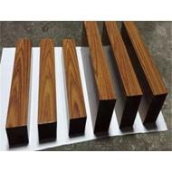 广东型材铝方通厂家 木纹四面铝方通 矩形铝方管厂