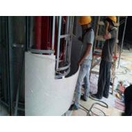 铝单板厂3.0mm白色弧形铝单板大信新都汇室内包柱铝单板