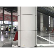 铝单板厂2.5mm弧形铝单板高铁站台包柱铝单板幕墙